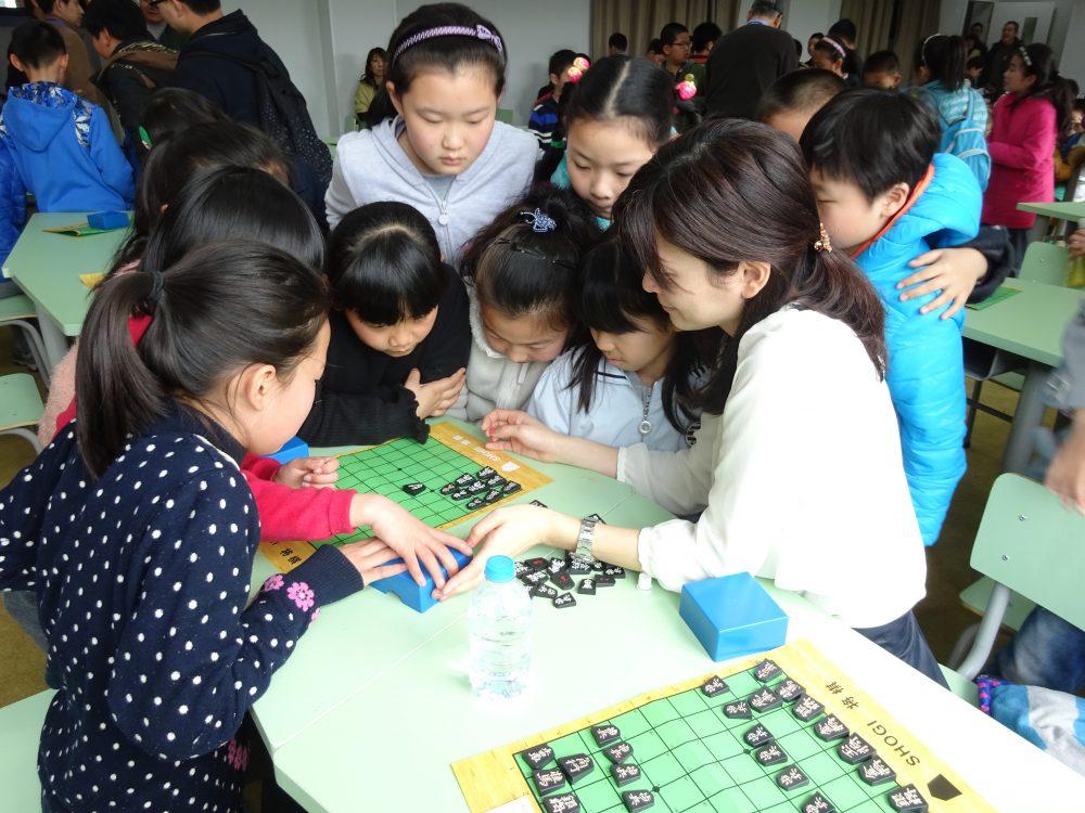 上海の学校にて