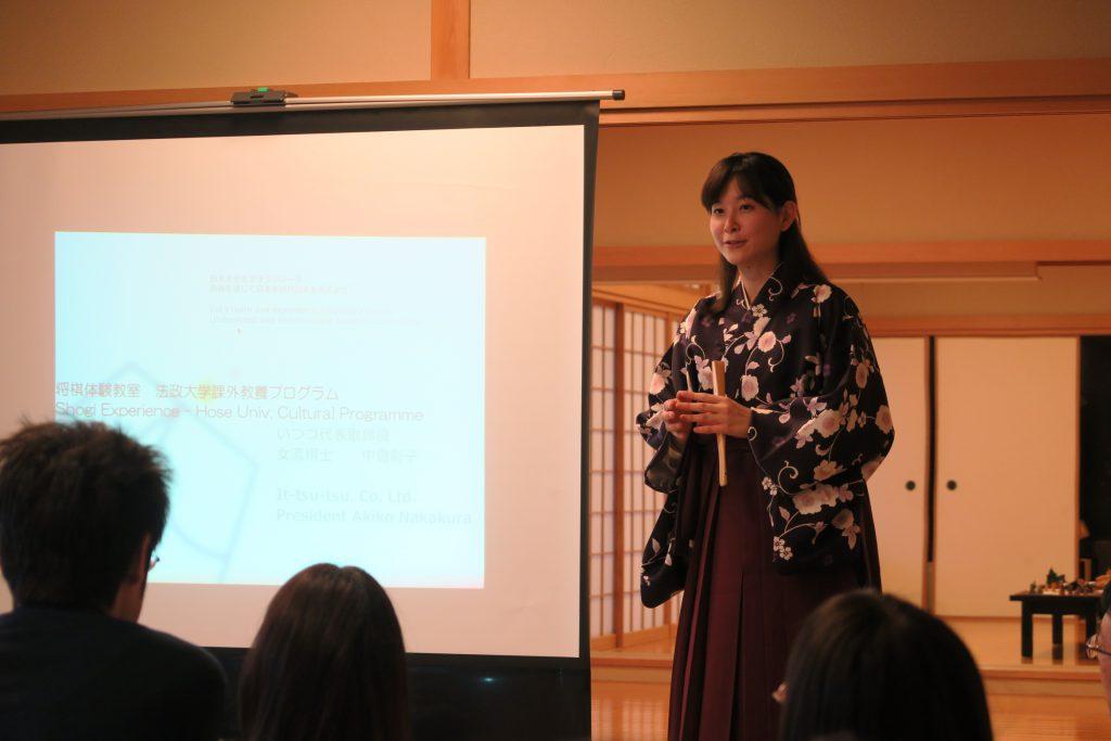 母校の法政大学で、留学生に向けて日本の将棋文化についてのワークショップを開催しました。
