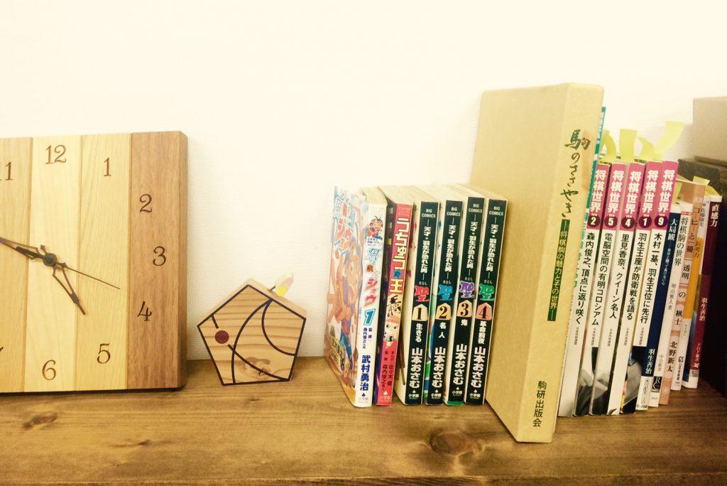 いつつのミニ図書館もけっこう将棋の本が充実しています。