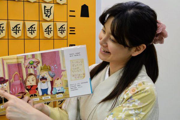 将棋の駒のキャラクターが特に女の子に大好評。