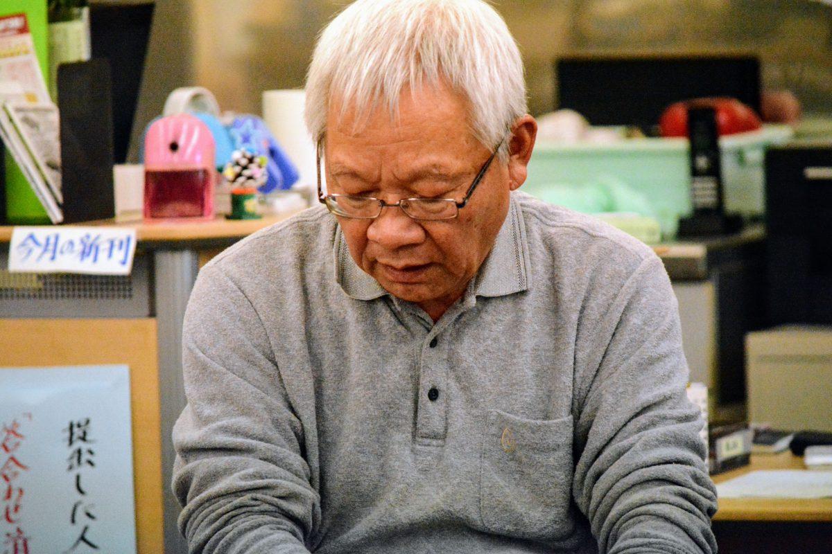 天童に毎日気楽に将棋が指せる場所がほしいと長年願ってきたと話す村岡さん