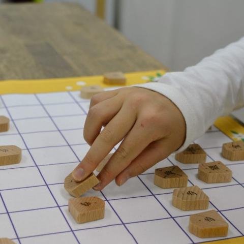 丸みのあるフォルムとそれぞれ異なる表情を見せる駒が子どもの感性を育みます。