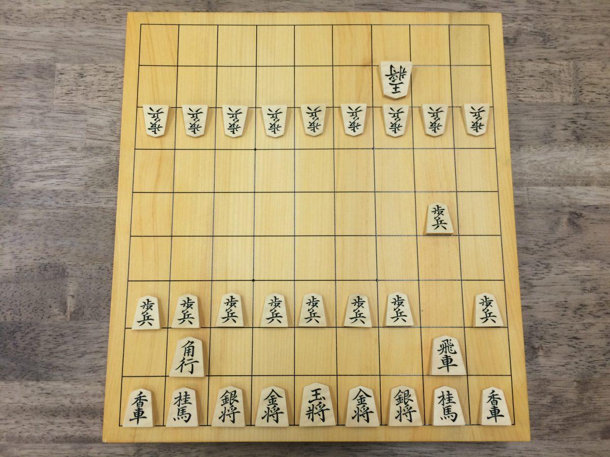 10枚落ちの局面。将棋初心者の子どもたちは2四歩が指せない。